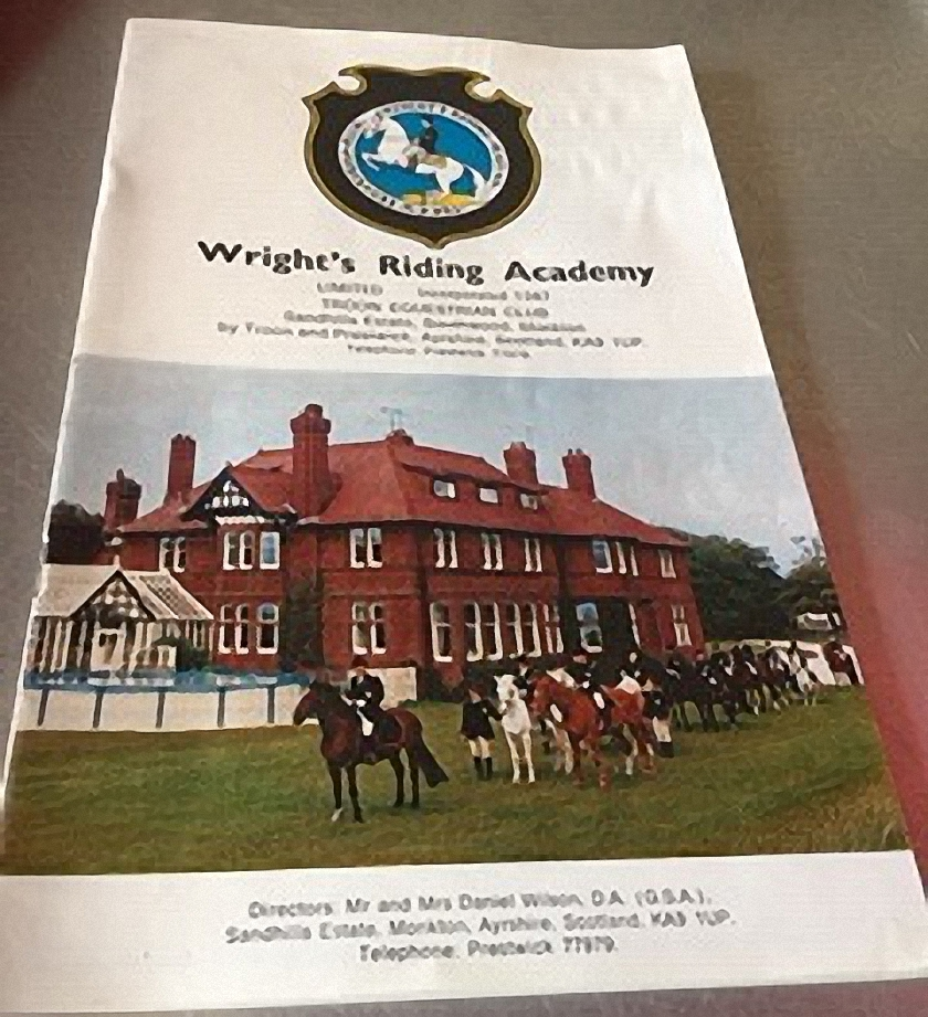 Wrights Riding Academy at Sandhill House Troon