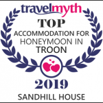 Image: Award for Top Accommodation for Honeymoon in Troon - Sandhill House